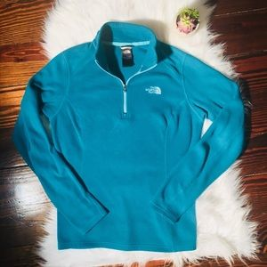 The North Face 1/4 Zip Fleece Sweater Small